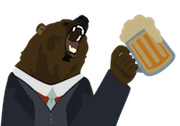 Bear with beer stein